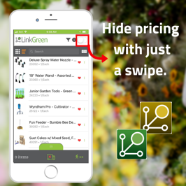 Hide pricing with just a swipe. (2)
