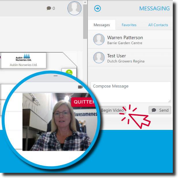 Engage with Video and Chat