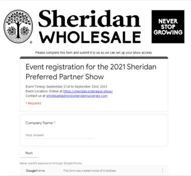 Branded virtual event registration