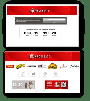 Virtual event sponsorship cutomized advertising