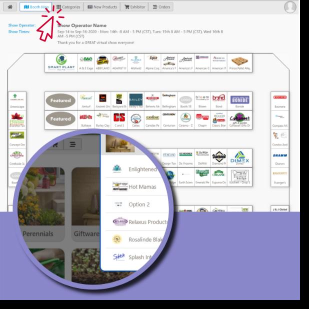 Simple Virtual Trade Show Floor Navigation